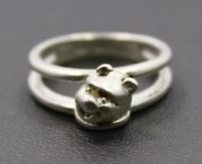 Sterling Silver Disney Winnie the Pooh Bear 3D Ring Size 6 / 4.1g