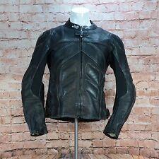 J&S Leather & Part Textile Motorcycle Biker Protection Jacket Label Size UK 42