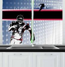 "Wild America Kitchen Curtains 2 Panel Set Window Drapes 55"" X 39"""