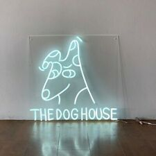 Glass Neon The Dog House Party Bar Man Cave Decor Light Sign