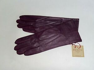 Genuine Dents leather gloves - Silk lined  - Felicity design - Thistle colour
