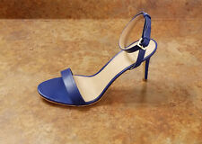 New! Tory Burch 'Elana' Ankle Strap Sandals Blue Leather Womens 10 M MSRP $295