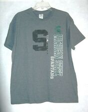 Men's NCAA Michigan State Spartans Authentic Dark Gray T-Shirt Large  NWT