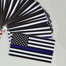 10 Pack  Police Officer Thin Blue Line American Flag Vinyl Decal Car Sticker
