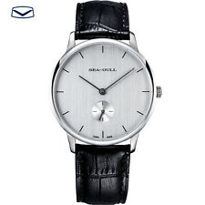 Seagull watch men's hand-winding movement D819.463 ultrathin steel stringy dial