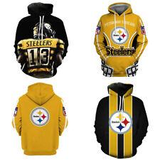 Pittsburgh Steelers Fans Hoodie Sports Hooded Sweatshirt Casual Jacket Pullover