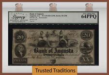 TT OBSOLETE 18__ $20 AUGUSTA, GA BANK OF AUGUSTA REMAINDER LCG 64 PPQ