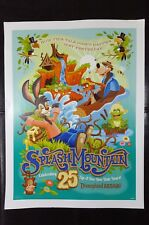 SPLASH MOUNTAIN Official Disney 25th Anniversary Poster Disneyland AP exclusive