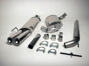 """VW Golf MK3 GTI VR6 Jetex 2.5"""" Cat Back Exhaust System Non Res Twin Tail Pipes"""