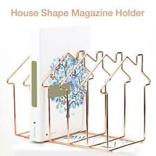 Iron Book Stand Organizer Desktop Books Shelf Storage Holder For Home & Office