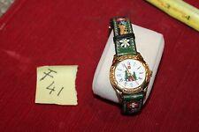 Beautiful Swiss Alpine Design Womens Leather Strap Watch f41