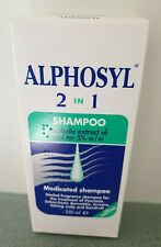 alphosyl medicated shampoo 2in1 new and boxed 250ml sealed