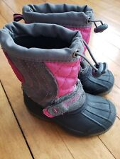 Sporto 7 - 8 Toddler Girls Winter Boots Pink & Suede Leather Upper WARM Lining