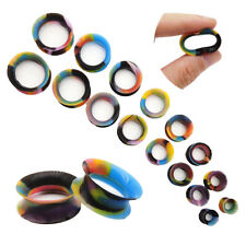 PAIR Silicone Colorful Ear Gauges Soft Ear plugs Thin Flesh Tunnels Ear Tunnels