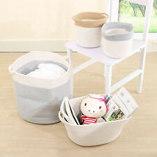Foldable Storage Bag Bin Closet Toys Box Container Organizer Cotton Rope Baskets