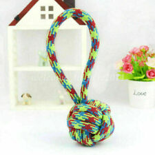 1X Pet Dog Cat Teeth Chew Cotton Braided Bone Rope Knot Puppy Play Toy Random#Y