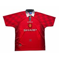 🔥Original Manchester United 1996/98 Home Football Shirt Umbro - Size XL🔥