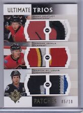 IGINLA HEATLEY ST. LOUIS 2007-08 Ultimate Trios Gold Patches #'d 05/10