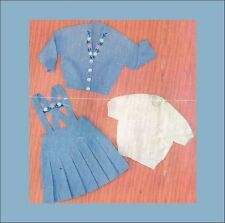 Knitting Pattern: GIRL'S 3-PIECE for 2 - 4 years old/ CHILD'S KNITTING PATTERN