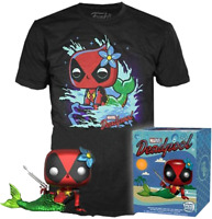 Metallic Mermaid Deadpool Funko Pop Vinyl + XL T-Shirt New in Sealed Box