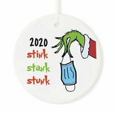 2020 Grinch Hand Christmas Ornament Mask Stink Stank Stunk - #5