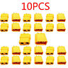 Male+ Female XT60 WIRE CONNECTOR YELLOW BULLET RC POWER LIPO PLUG 1/3/5/10 PCS