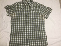 G-Star Raw Button Short Sleeve Checked Shirt Size Extra Large XL Cliff Sable