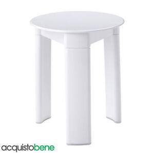 Sgabello da bagno doccia in plastica bianco a tre piedi Ø 33 H40 Cm Gedy Trio
