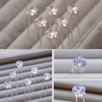 20PCS Clear Crystal Diamante Rhinestone Wedding Bridal Prom Hair Pins Hairpin