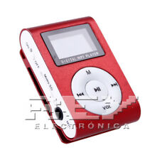 Reproductor MP3 CLIP con Pantalla LCD Color Rojo d41