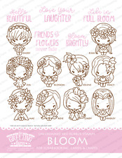 BLOOM KIT-The Greeting Farm Cling Mount Rubber Stamp-Stamping Craft-Flower Bean