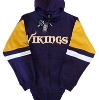 Minnesota Vikings NFL Blocking Full Zip Hoodie Team Colors Big & Tall 2XL NWT