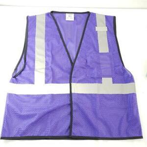 = Kishigo B129 EV Series Enhanced Safety Visibility Vest Purple L-XL NEW