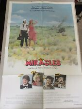 Vintage 1 sheet 27x41 Movie Poster Miracles 1986 Christopher Lloyd Tom Conti