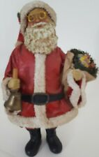 Antique Style Bell Ringing Santa ~Fabrique~Christmas Collectible~Save $'s with