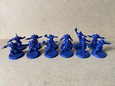 Blood Bowl Human Team 12 Players Full Team GW Primed Blue