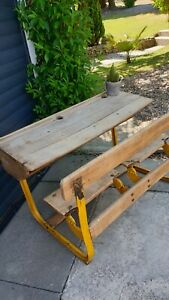 ☆ New Price Rare Original RUSTIC French VINTAGE Childrens Double Desk - DELIVERY