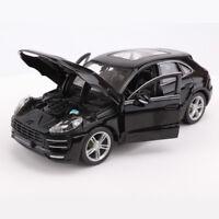 1/24 Black  Porsche Macan SUV Alloy Car Model Bburago  Diecast  Car Toy Gift