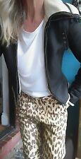 One Teaspoon Jackson Leopard Real Leather Pants Sz S