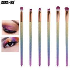6Pcs Eyes Makeup Brushes Set Rainbow Glitter Handle Eyeshadow Eyebrow Brush Tool