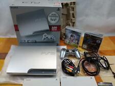 Playstation 3 PS3 Slim 320GB Silber+ Zubehörpaket: Dua. 3 Con. + OVP + 2 Spiele