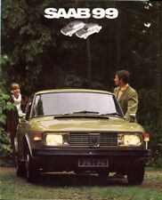 Saab 99 carb + injection c.1972 Italian market original colour sales brochure