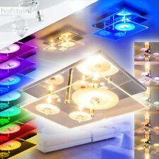 Plafonnier Design Lampe à suspension LED Lustre Changeur de couleur Verre 168187
