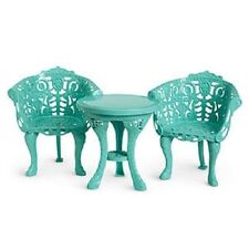 American Girl COURTYARD FURNITURE retired table chairs W1029 Marie Grace Cecile