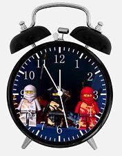 """Lego Ninjago Alarm Schreibtisch Uhr 3.75"""" Heim oder Büro Dekor W409 Nizza für Geschenk"""