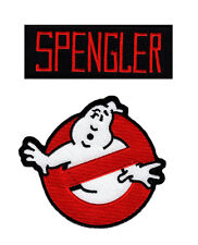 Ghostbusters Spengler Name Tag & No Ghost Iron On Applique Patch