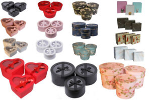 Florist Hat Flower Storage Boxes  Round Square, Heart Gift  Bouquets Jewellery