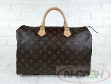 BIDSALEONLY! AUTHENTIC $1090 LOUIS VUITTON Monogram Speedy 35 LV Bag