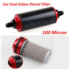 AN10 100 Micron Aluminum High Flow Fuel Inline Petrol Filter For Car Auto Truck