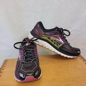 Brooks Glycerin G13 Running Shoes Women's Size 8  W Black Pink Green Purple